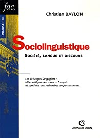 Sociolinguistique par Christian Baylon