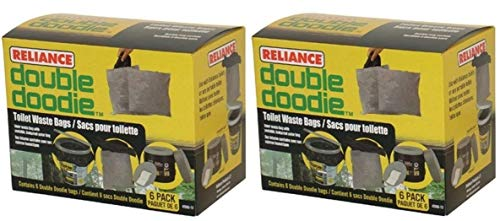 Reliance Products Double Doodie Toilet Waste 12 Pack Bag