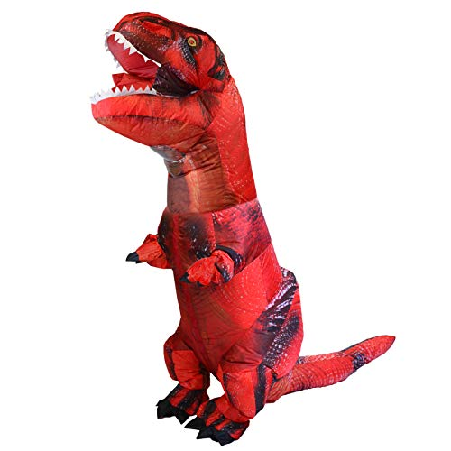 (SYNCFUN Inflatable Costume Tyrannosaurus Rex T-Rex Dinosaur Air Blow-up Deluxe Halloween Costume - Adult Size)