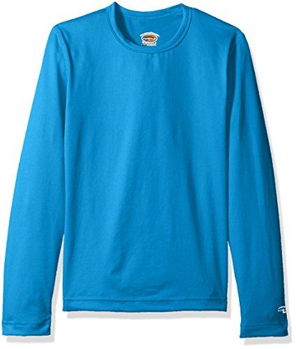 Duofold Big Girls' Mid Weight Varitherm Thermal Shirt, Underwater Blue, S