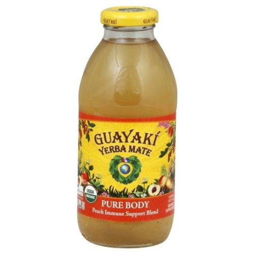 Guayaki Yerba Mate - Guayaki Tea Iced Pure Body Peach 16-Ounce (Pack of 12) by Guayaki