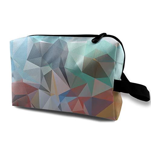 KIMBERLYBLAINE Geometric Patchwork Blocks Diamonds Makeup Bag Cosmetic Case Travel Organizer Train Case (Block Kimberly)