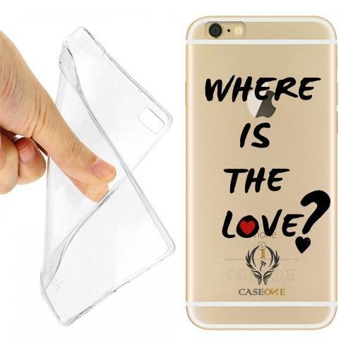 CUSTODIA COVER CASE CASEONE WHERE LOVE PER IPHONE 6 TRASPARENTE