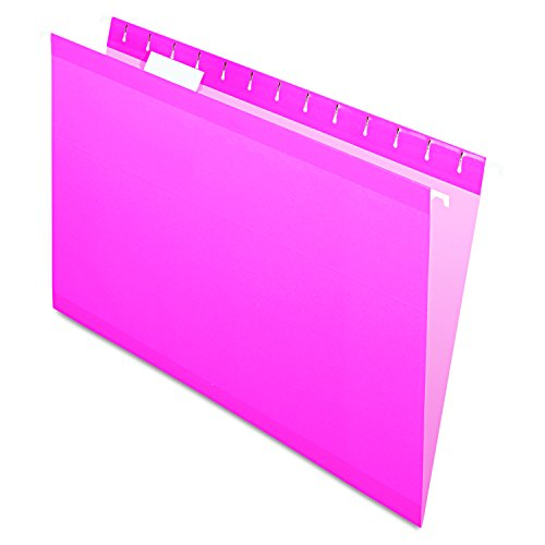Pendaflex Reinforced Hanging Folders, Legal Size, Pink, 1/5 Cut, 25/BX (4153 1/5 PIN) (Pink File)