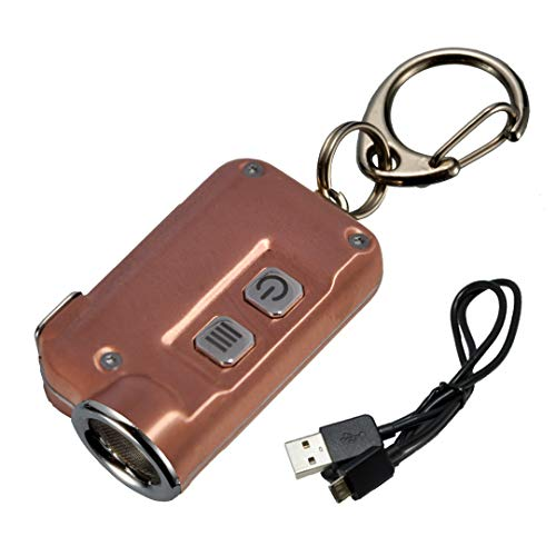 (Nitecore TINI 380 Lumens USB Rechargeable Keychain Flashlight with Lumen Tactical Charging Cable (Copper))