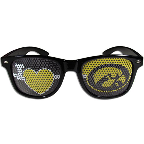 Siskiyou NCAA Iowa Hawkeyes I Heart Game Day Shades, Black,Adult,Black