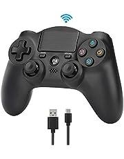 yidenguk PS4 Controller USB Game Controller voor PS4 Draadloze Gaming Controller Oplaadbare Bluetooth Gamepad Comfortabele Grip Remote Joypad met Touch Pad Audio Jack Dual Shock en Gyro Axis voor PS4