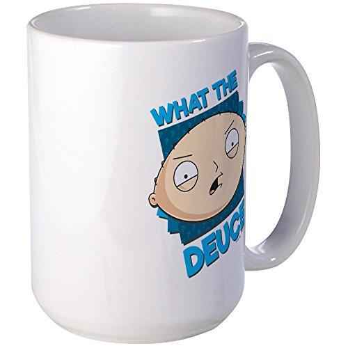 CafePress - Family Guy What The Deuce Large Mug - Coffee Mug, Large 15 oz. White Coffee Cup (Guy Family Beer)