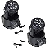 XPC DMX-512 Stage Lighting Mini Moving Head Light 4 In 1 RGBW LED PAR Light Lighting Strobe Professional 9/14 Channels…