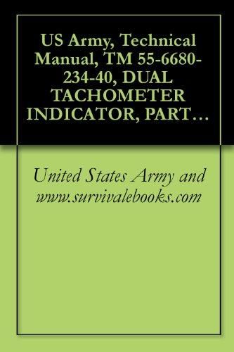 anual, TM 55-6680-234-40, DUAL TACHOMETER INDICATOR, PART NOS. 41105-C5A-4-, AND, 41105-C5A-4-E3, ()