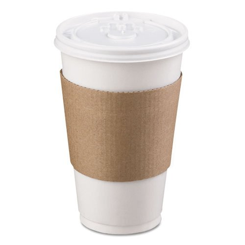 LBP Coffee Clutch Hot Cup Sleeve, Brown - Includes 1200 per case. by LBP