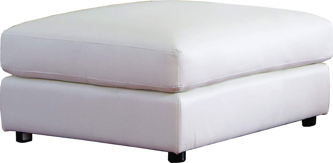 Coaster Home Furnishings Quinn Square Cocktail Storage Ottoman White