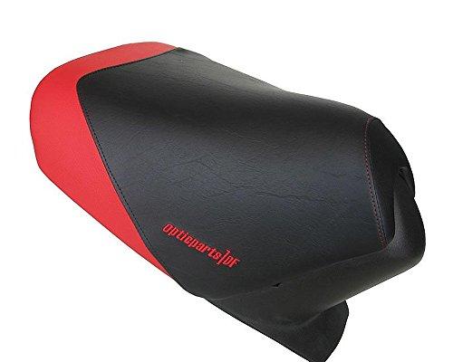 Stoelbekleding bestuurder ODF zwart/rood voor Aprilia SR50 (97-05)