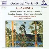 Glazounov : intégrale des oeuvres pour orchestre, vol.9