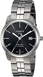 Tissot Men's Swiss Quartz Titanium Automatic Watch, Color:Silver-Toned (Model: T0494104405100)