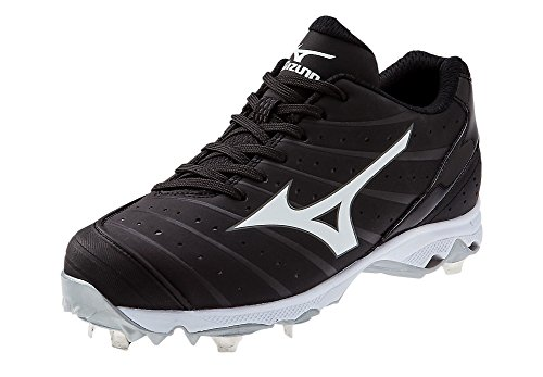 Mizuno Women's 9-Spike Advanced Sweep 2 Fastpitch Cleat, Black/White, 11 M US by Mizuno
