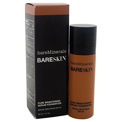 bareMinerals Pure Brightening Serum SPF20 All Skin Types Bare Walnut 18 Foundation for Women, 1 Ounce (Makeup Escentuals Skin Mineral)