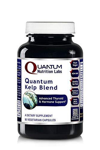 Quantum Nutrition Labs Kelp Blend, 360 Vegetarian Caps, Botanical Formula Premier Research Thyroid & Hormone Support Iodine by Quantum Nutrition Labs