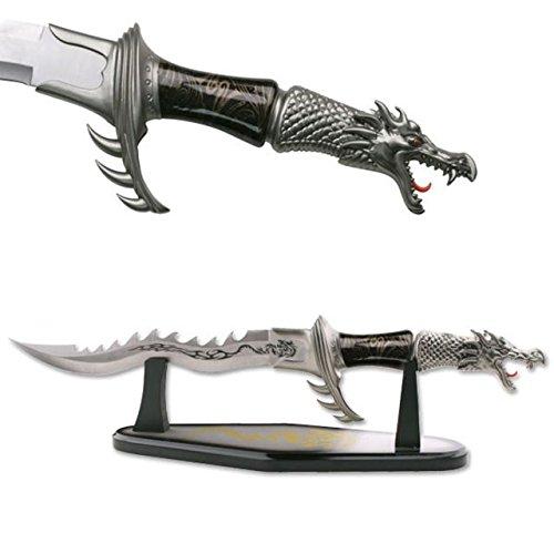 Fantasy Master FM-421B Flaming Dragon Display Knife 24-Inch - Fantasy Throwing Knife