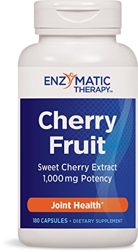 Enzymatic Therapy Cherry Fruit Multivitamin Capsules, 180 Count