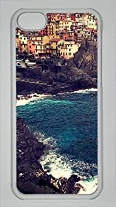 Beautiful Manarola Custom PC Transparent Case for iPhone 5C by icasepersonalized