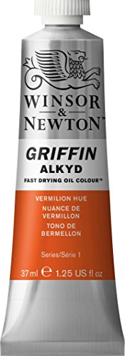 Winsor & Newton Griffin Alkyd Fast Drying Oil Color Tube, 37ml, Vermilion Hue by Winsor & Newton