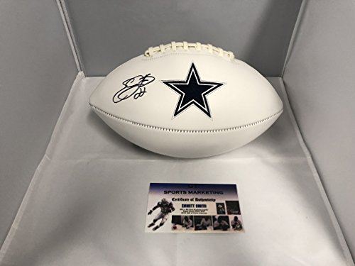 Emmitt Smith Autographed Signed Cowboys Logo Football GTSM COA & Emmitt Personal Player (Smith Signed Ball)