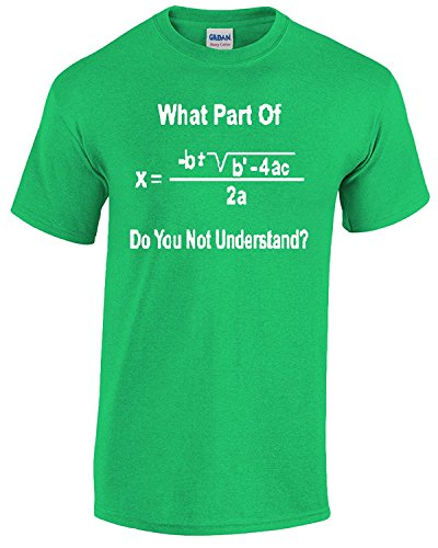 Hot Ass Tees Adult What Part Of Math You Don T Understand  T Shirt Green Small
