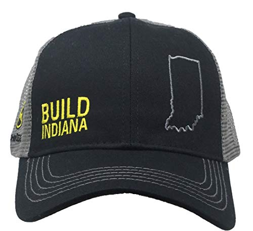 John Deere Build State Pride Cap-Black and Gray-Indiana