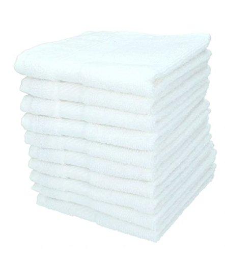 Betz 10er Pack Seiftücher Set Größe 30x30 cm Seiflappen 100% Baumwolle Palermo Farbe weiß