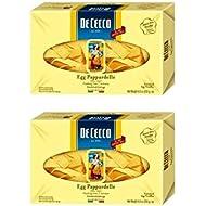 De Cecco Egg Pappardelle Enriched Egg Noodles, 8.8oz(250g) (Pack of 2)