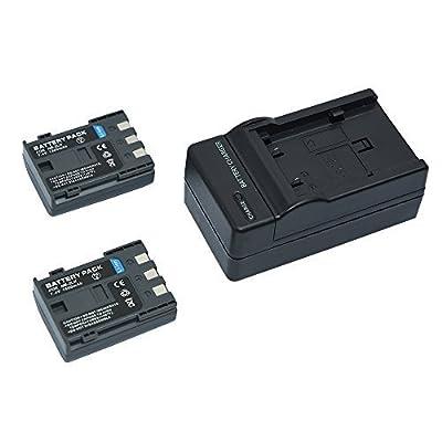 Mondpalast @ 2X Reemplazo Li-ion batería NB-2LH NB2LH BP2L5 BP2LH BP-2L5 BP-2LH 1500 mAh 7.4V + cargador para CANON POWERSHOT S30 S40 S45 S50 S60 S70 S80 G7 G9 EOS 350D 400D LEGRIA HF R106 HG10 HV20 MV830I MV800I MV940