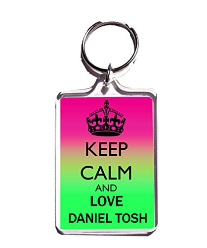 KEEP CALM AND LOVE DANIEL TOSH KEYCHAIN