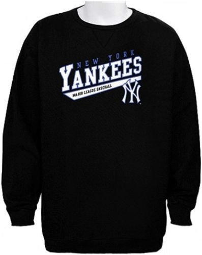 Majestic New York Yankees MLB Licensed Crampton Black Sweatshirt Men Big  Sizes (M) fbbbf385195