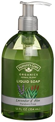 Nature's Gate Organics Liquid Hand Soap, Lavender & Aloe, 12-Ounce Bottles, (Pack of 3)