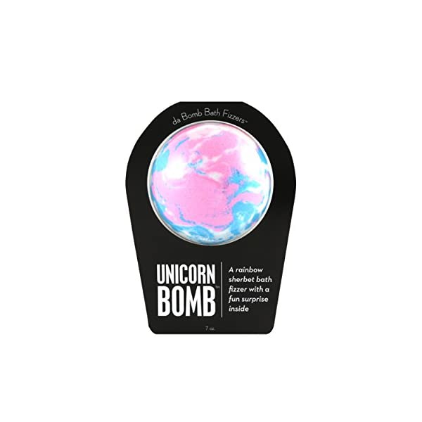 Da Bomb Unicorn Bomb, Pink/Blue/White, Rainbow Sherbet, 7 Ounce 3