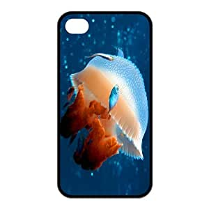 Stylish Fish Design Rubber TPU Shell Protector for Iphone 4 4S
