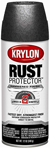 Krylon Rust Protector Hammered Paint Charcoal Gray Hammer 12oz. Aerosol Can - Lot of 6