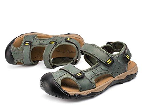 De Costume Velcro Mules Été Hommes Pour En Air Sport Sandales De Chaussures De En Sandales De Plage Sogxbuo Cuir Plein Sport YxHgHq