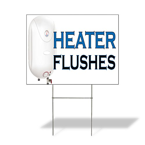 Heather Flushes #2 Outdoor Lawn Decoration Corrugated Plastic Yard Sign - 18inx24in, Free Stakes Heather Flush