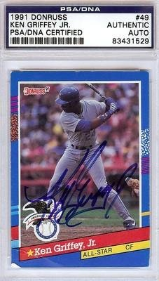 Ken Griffey, Jr. Autographed Signed 1991 Donruss Card #49 #83431529 - PSA/DNA Certified - Signed MLB Baseball Cards