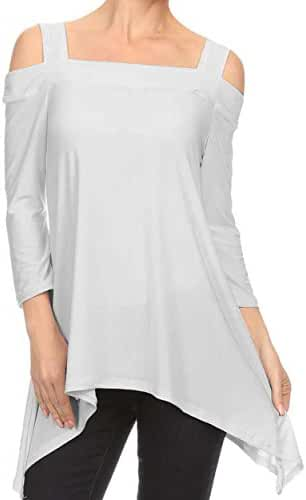 Avital Womens Cold Shoulder Trapeze Shirt