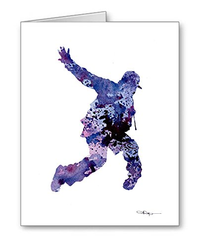 (Hip Hop Dancer - Set of 10 Watercolor Note Cards With Envelopes)