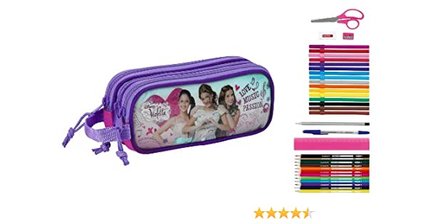 Violetta - Portatodo Triple Lleno con 34 Piezas (Safta 811347706): Amazon.es: Equipaje