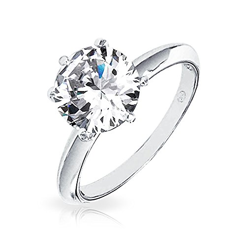 Bling Jewelry Solitaire 2.75ct Round Cut CZ Bridal Engagement Ring