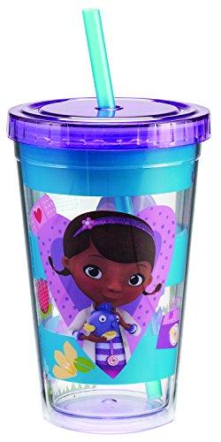 Vandor 91014 Disney Jr. Doc McStuffins Acrylic Travel Cup, 12 oz, Multicolor]()