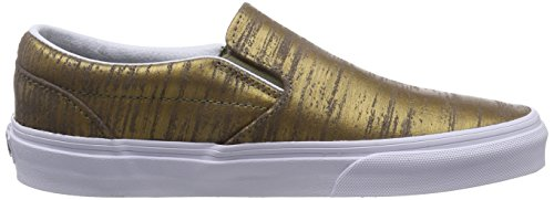 Vansclassic brushed gold Dorado Deporte Zapatillas Slip Unisex Adulto Or on De Metallic zPqzgr