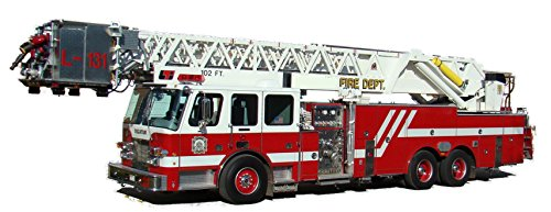 Large Fire Truck Wall Sticker Decal Firefighter Boys Bedroom Wall Decor Decoration Firetruck Engine Peel and Stick