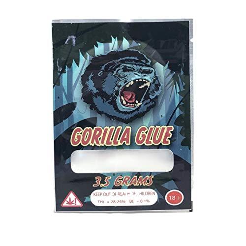 GORILLA GLUE Stickers & Mylar Barrier Bag - 3.5 GRAM - Heat Sealable - (Zip Lock Canna Bags, Billy Kimber, Paris OG) (128) by BIGSMOKE (Image #3)