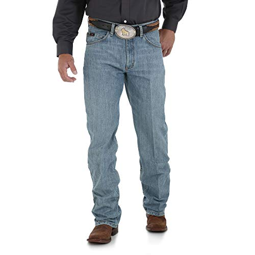 Wrangler Men's Big and Tall 20X 01 Competition Relaxed-Fit Jean, Laser Blue, 38x36 -